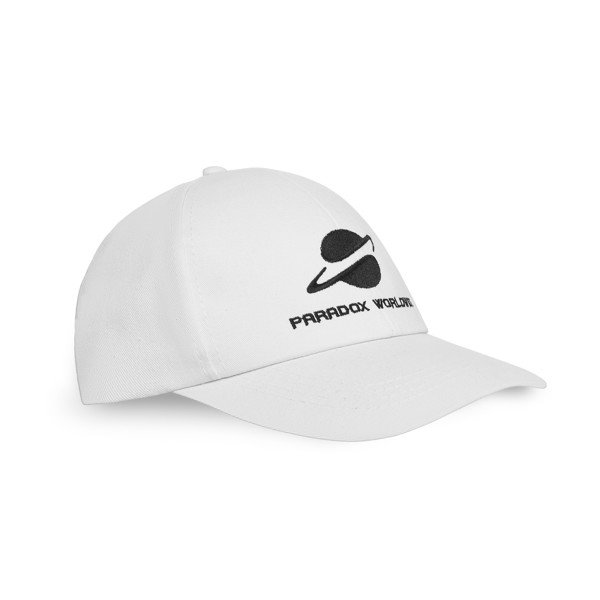 UNIVERSAL CAP (WHITE) - BLACK WORDING