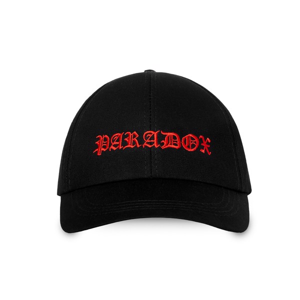 SINUOUS SIGNATURE CAP (BLACK) - RED WORDING