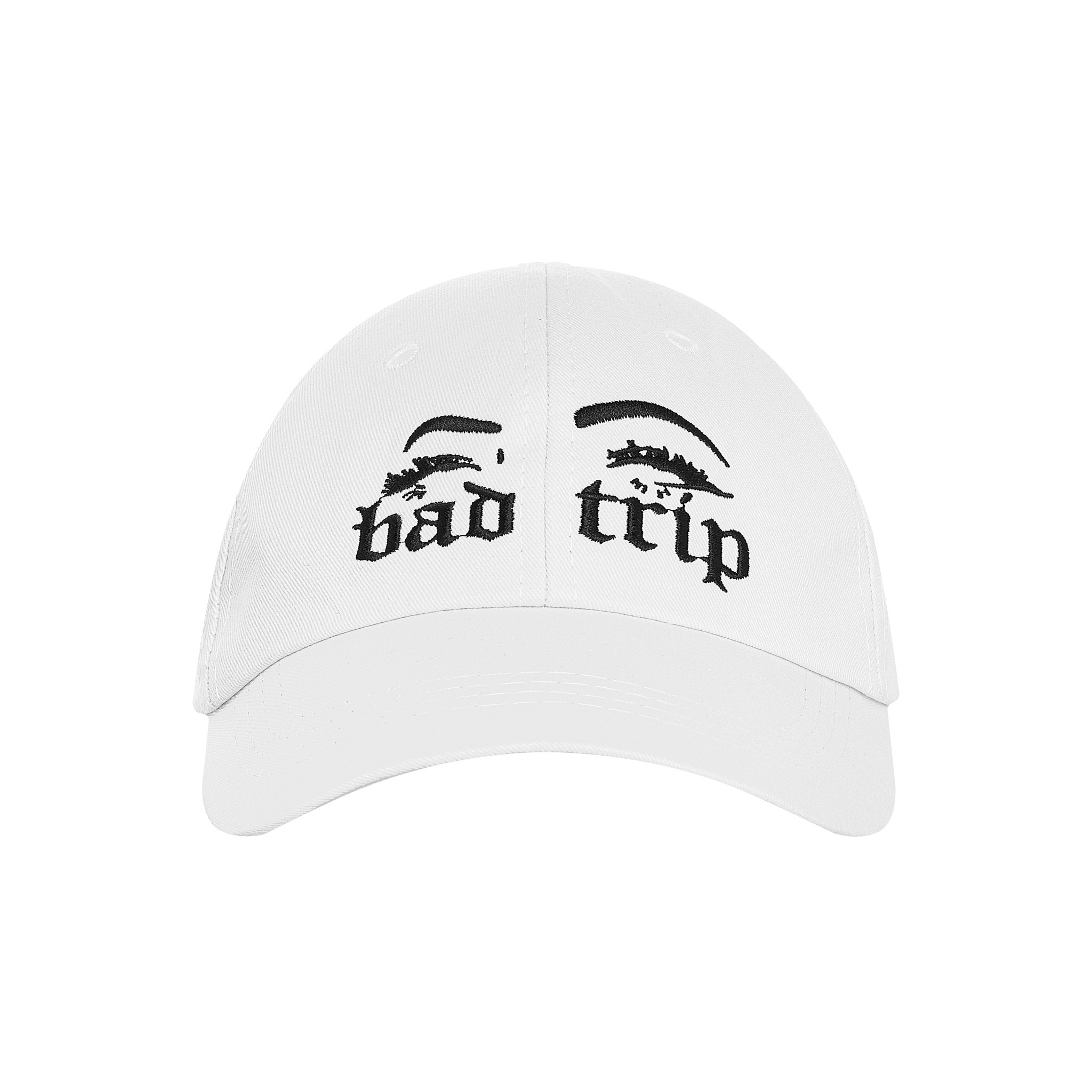 BAD TRIP CAP (WHITE) - BLACK WORDING
