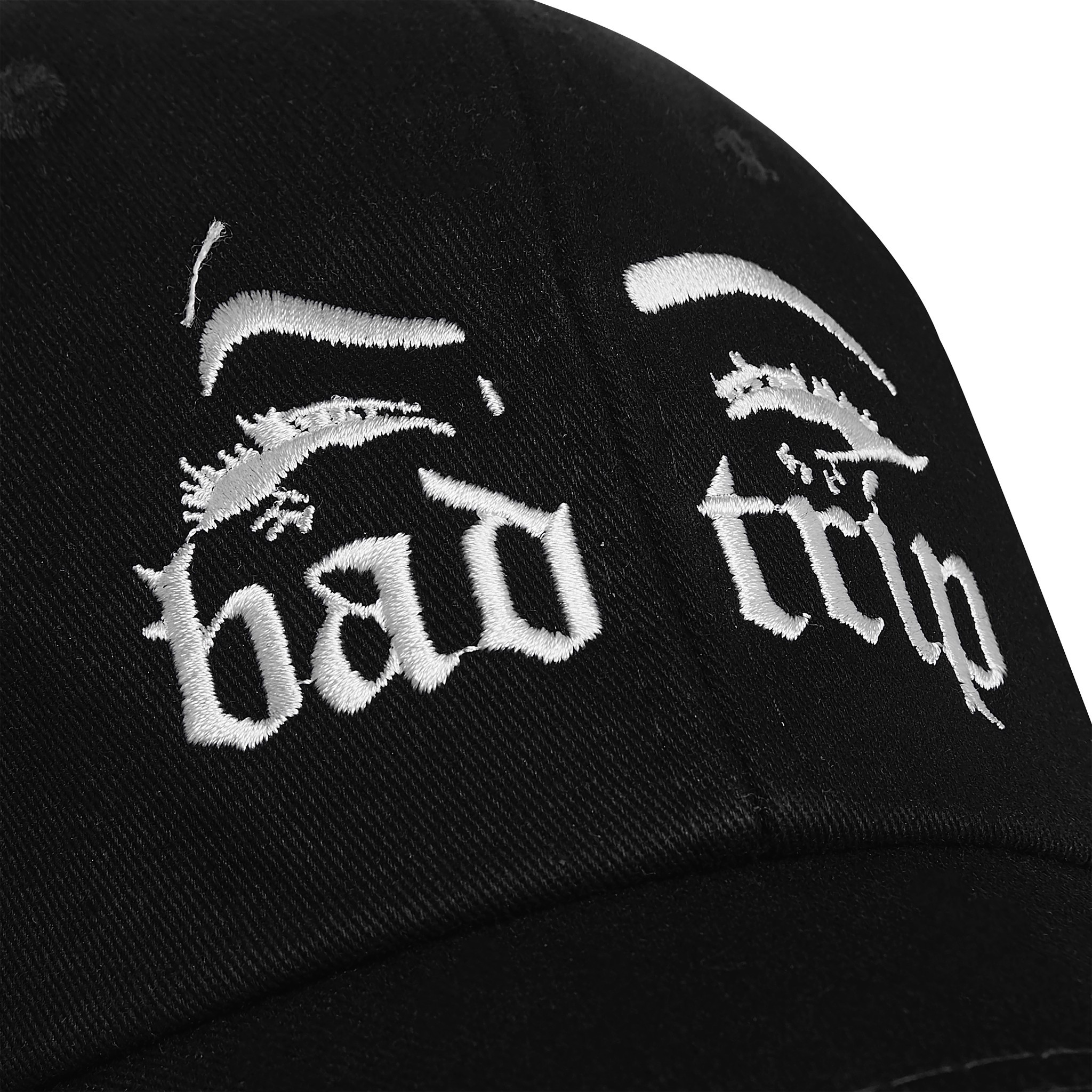 BAD TRIP CAP (BLACK) - WHITE WORDING