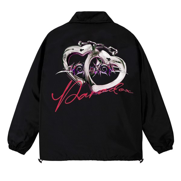 LOVE HANDCUFFS OVER-PRINTED JACKET (Black)
