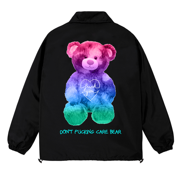 BEAR DON'T CARE OVER-PRINTED JACKET (Black)