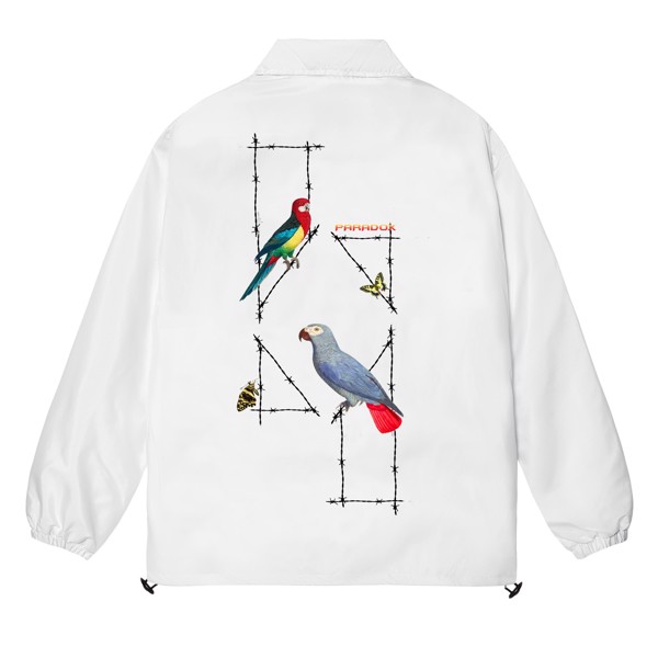 PARROT LOGO OVER-PRINTED JACKET (White)