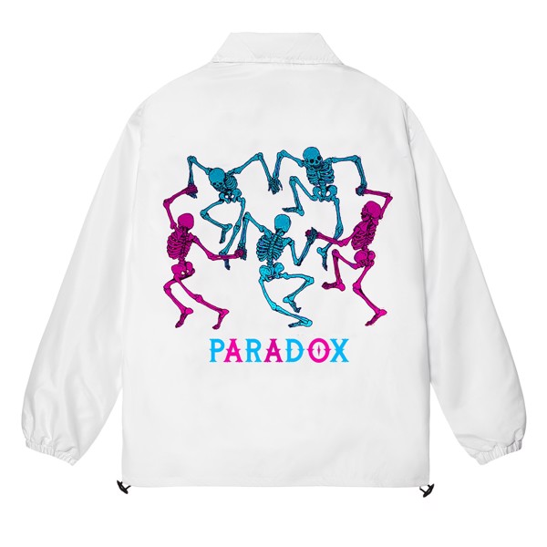 DANCING SKELETONS OVER-PRINTED JACKET (White)