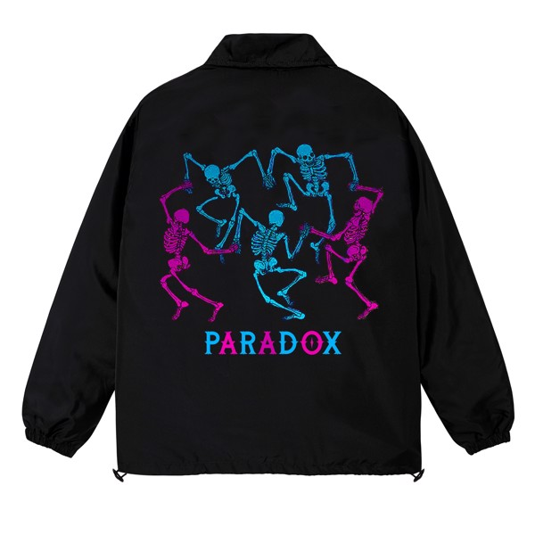 DANCING SKELETONS OVER-PRINTED JACKET (Black)