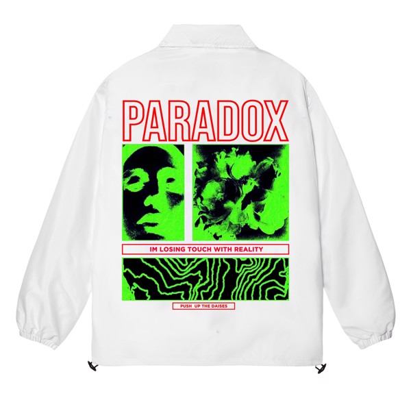 ILLUSION OVER-PRINTED JACKET (White)
