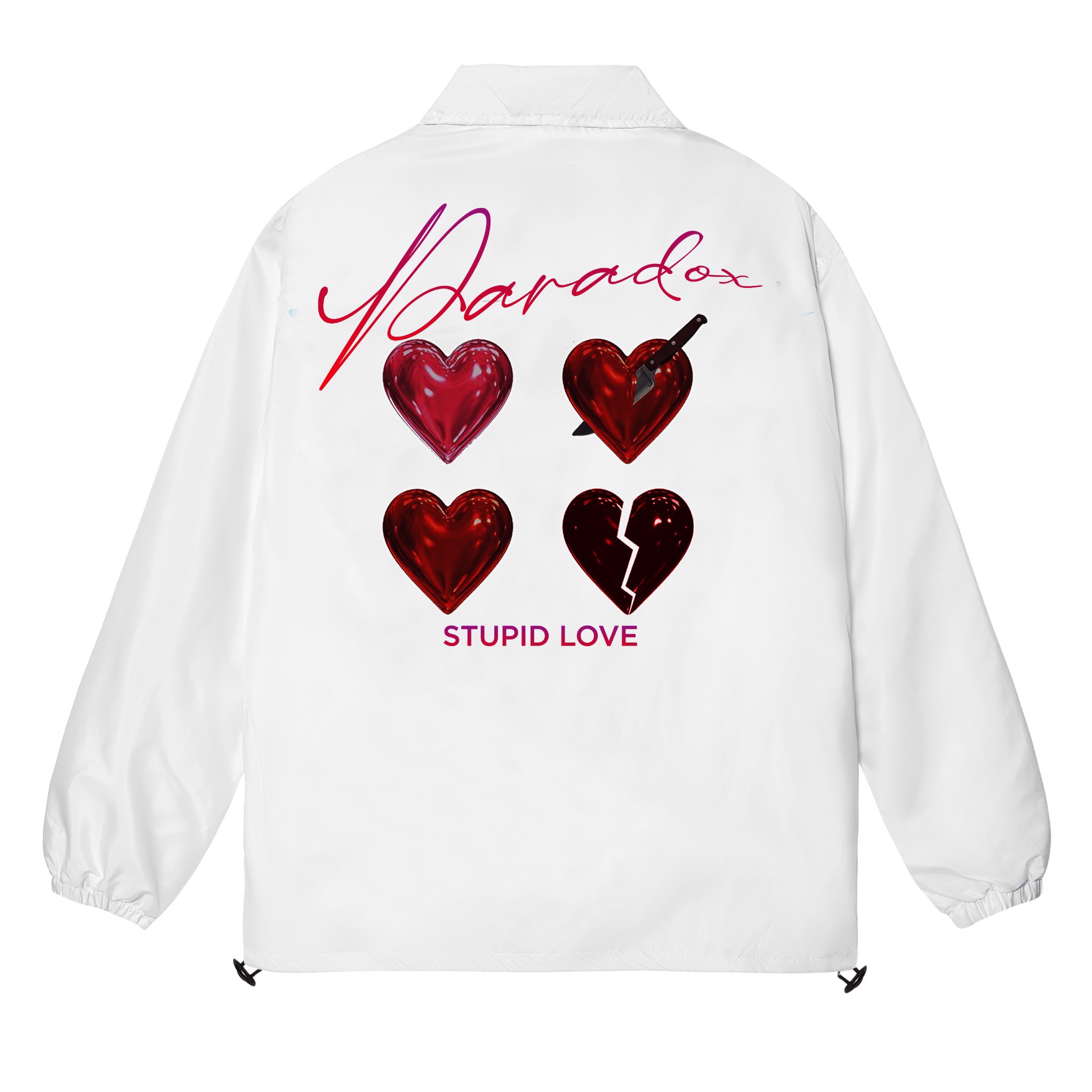 STUPID LOVE OVER-PRINTED JACKET (White)