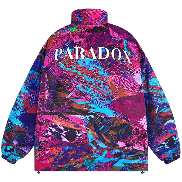 PATCHY SKIN ZIP OVER-PRINTED JACKET