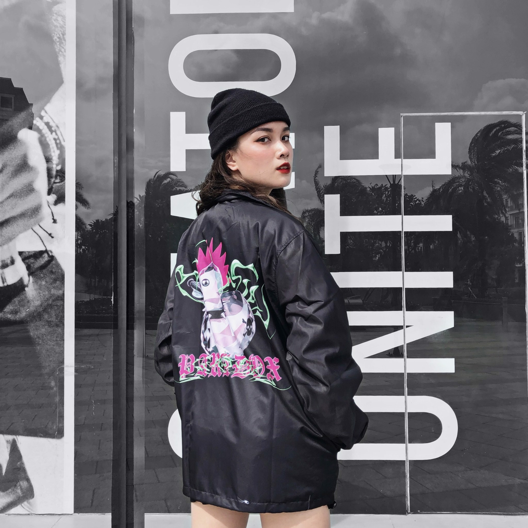 ROCHICK OVER-PRINTED JACKET (Black)