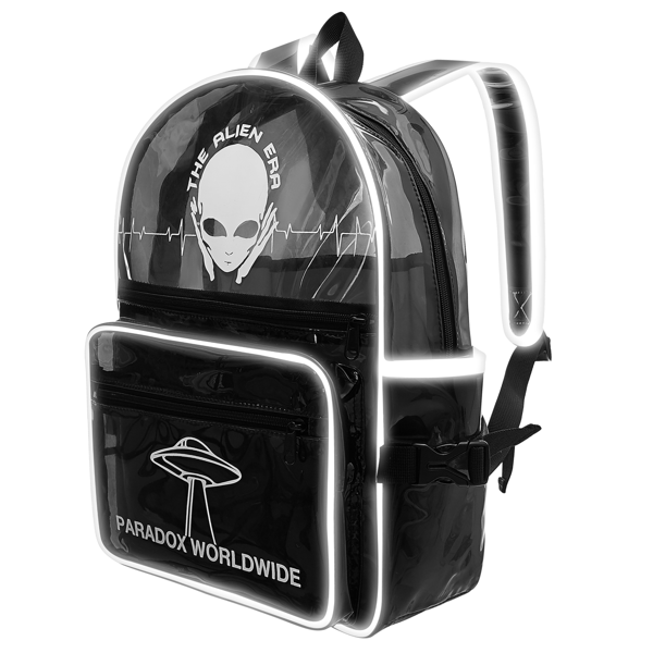 ALIEN ERA BACKPACK - BLACK POCKET
