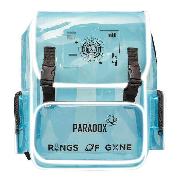 BABY BLUE BLACK-WORDING BACKPACK