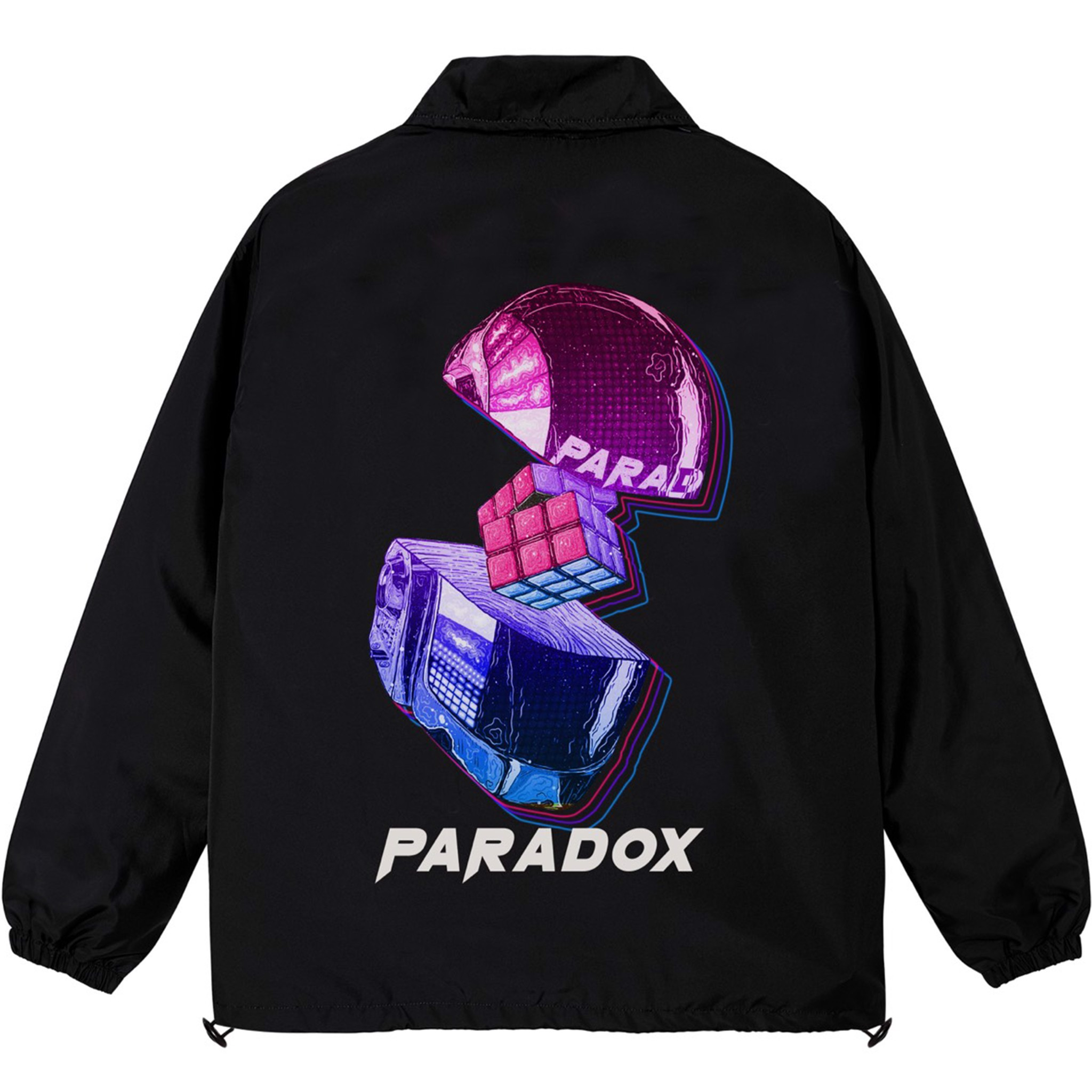 CUBE OVER-PRINTED JACKET