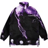 ELECTROCUTION ZIP OVER-PRINTED JACKET