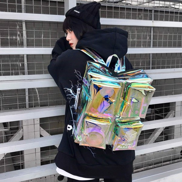 'PSYCHICS' HOLOGRAM BACKPACK (Black-Wording)