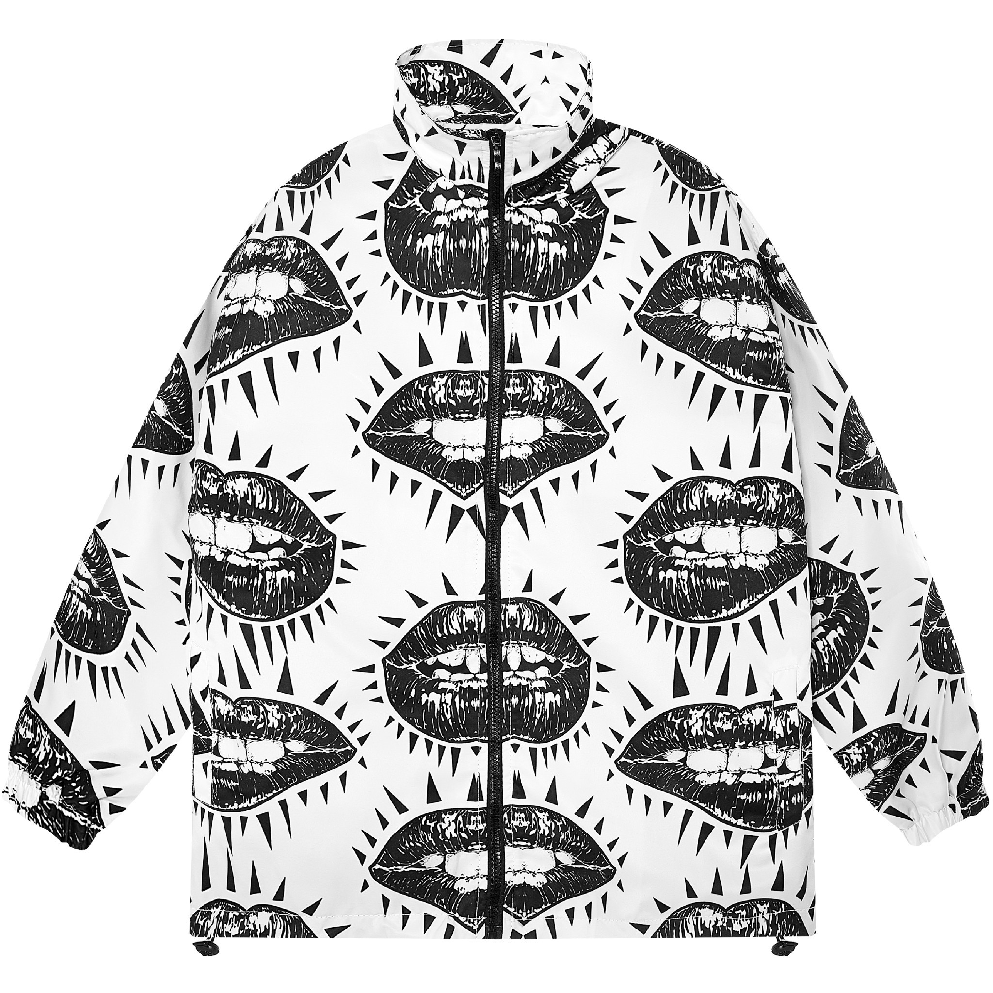 GOB ZIP OVER-PRINTED JACKET