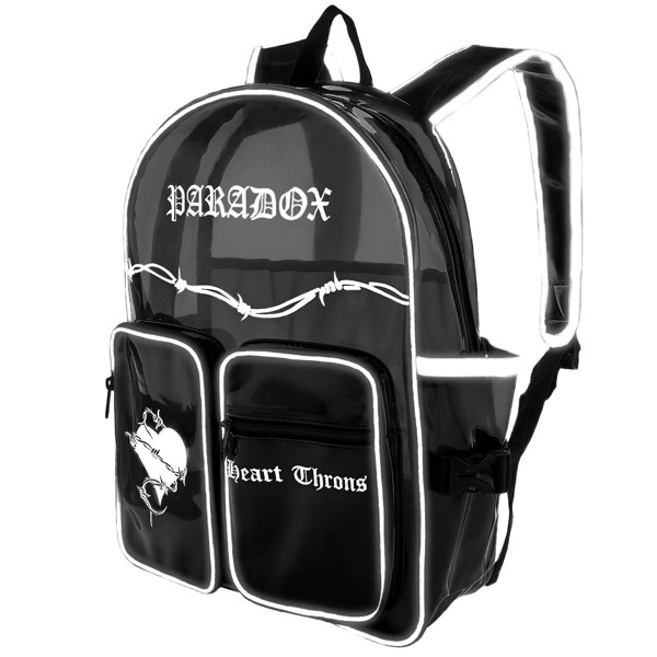 HEART THRONS BACKPACK - QUADRA BLACK POCKET