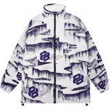ICE GROOVE ZIP OVER-PRINTED JACKET