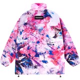 STAIN ZIP OVER-PRINTED JACKET