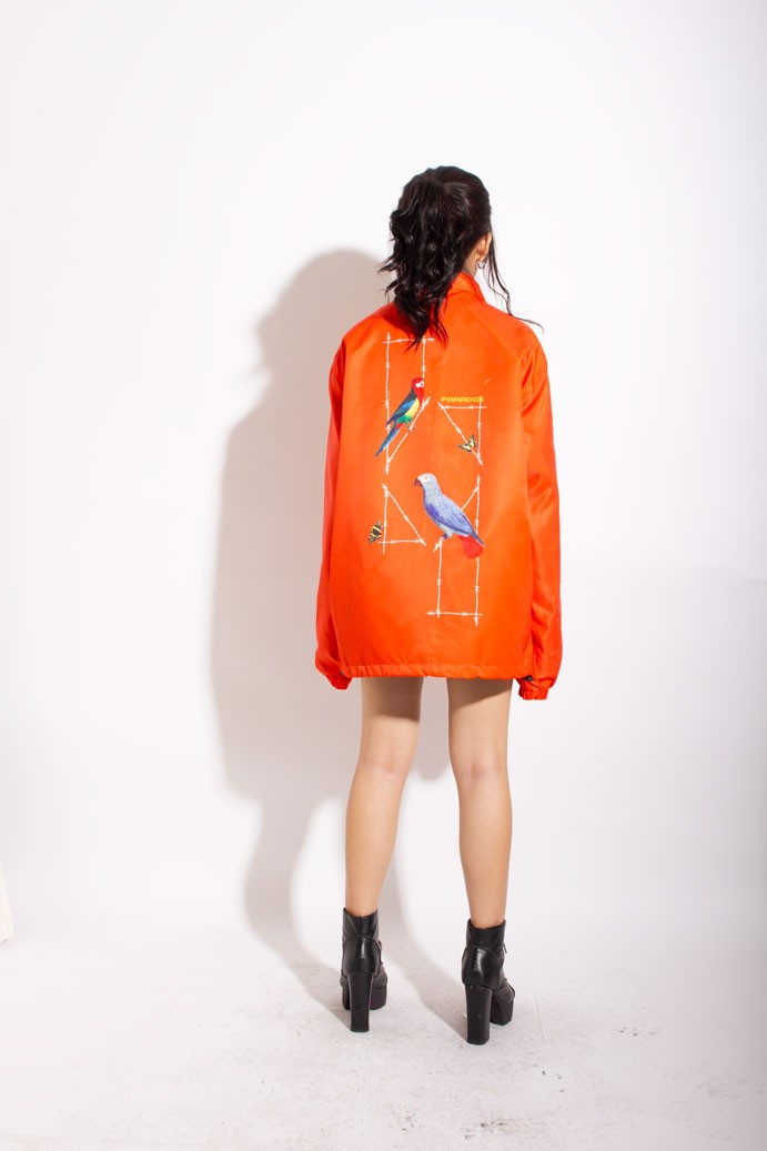 PARROT LOGO OVERPRINTED JACKET (Orange)