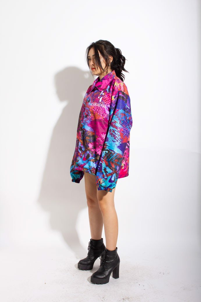 PATCHY SKIN OVER-PRINTED JACKET