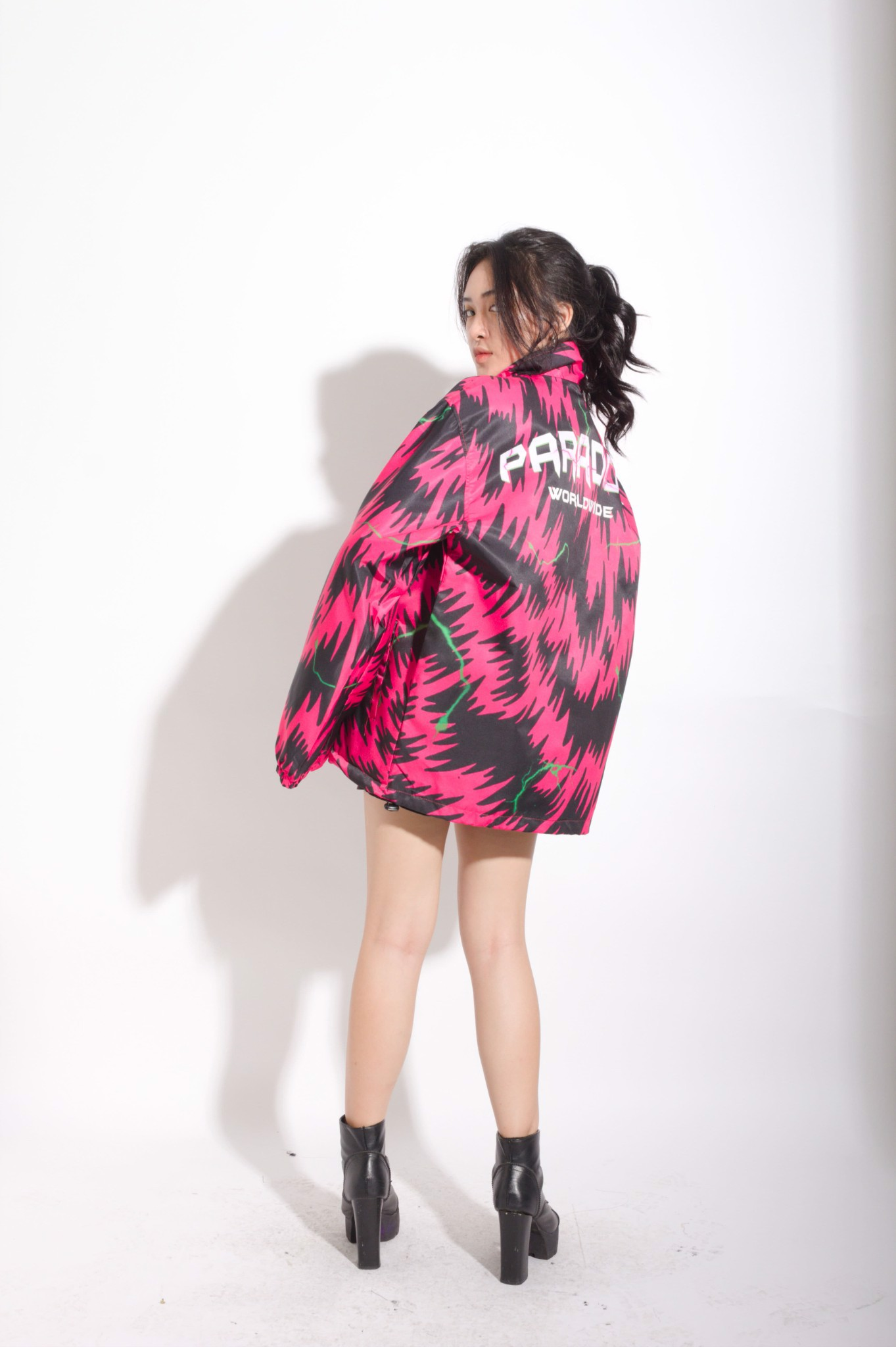 PELAGE ZIP OVERPRINTED JACKET