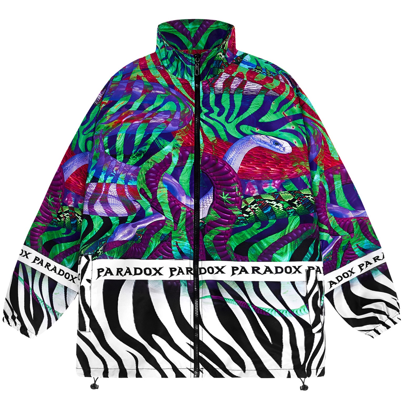BITTEN ZIP OVER-PRINTED JACKET