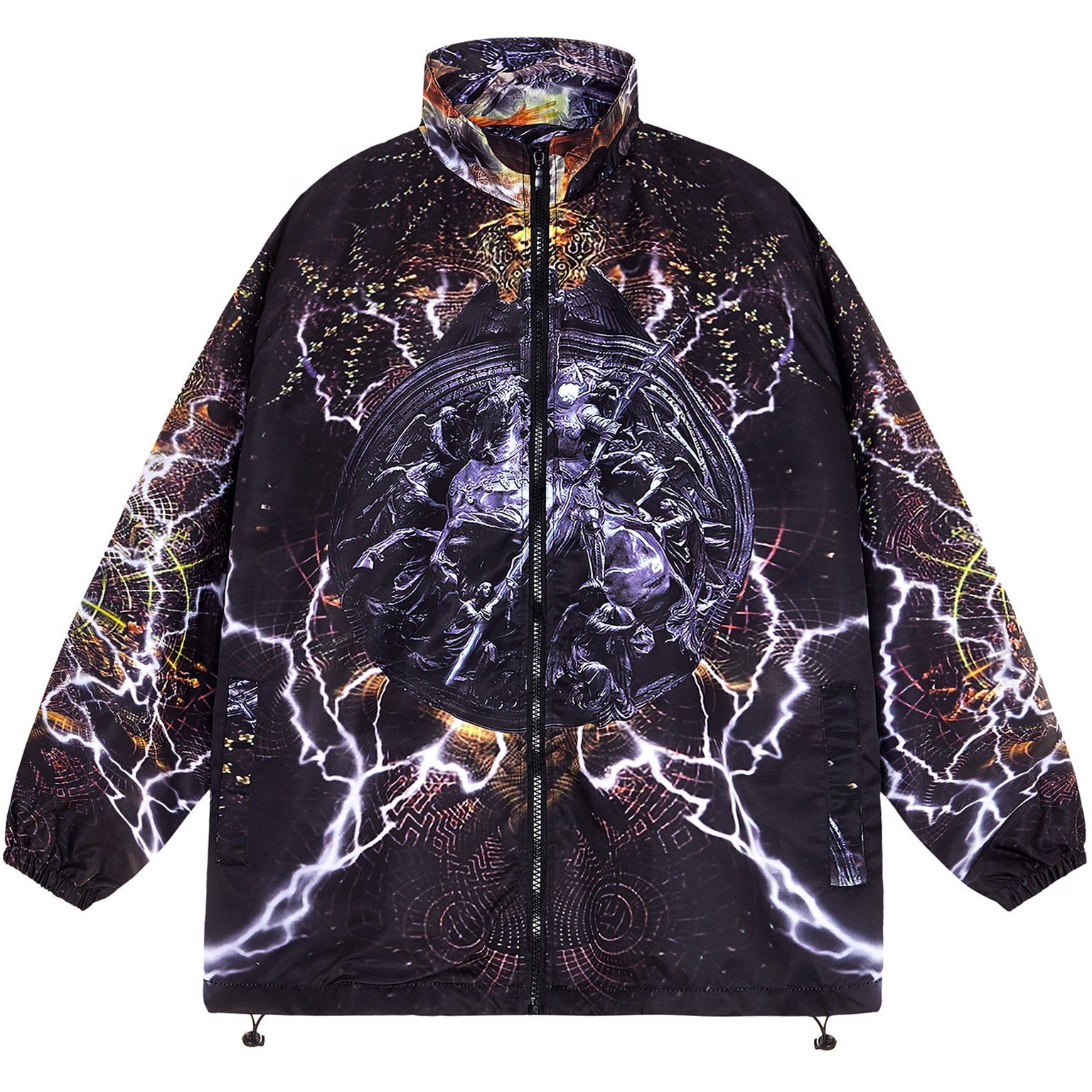 KNIGHT ZIP OVER-PRINTED JACKET