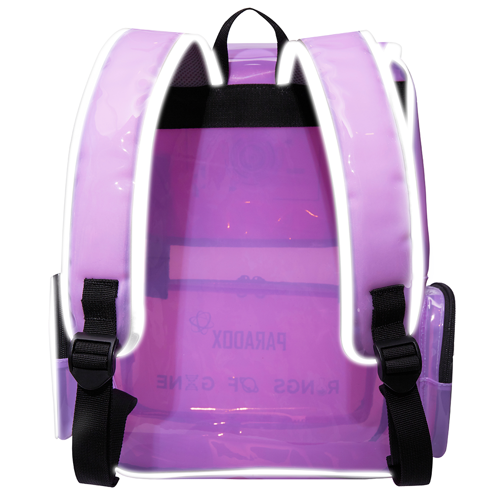 PURPLE BLACK-WORDING BACKPACK