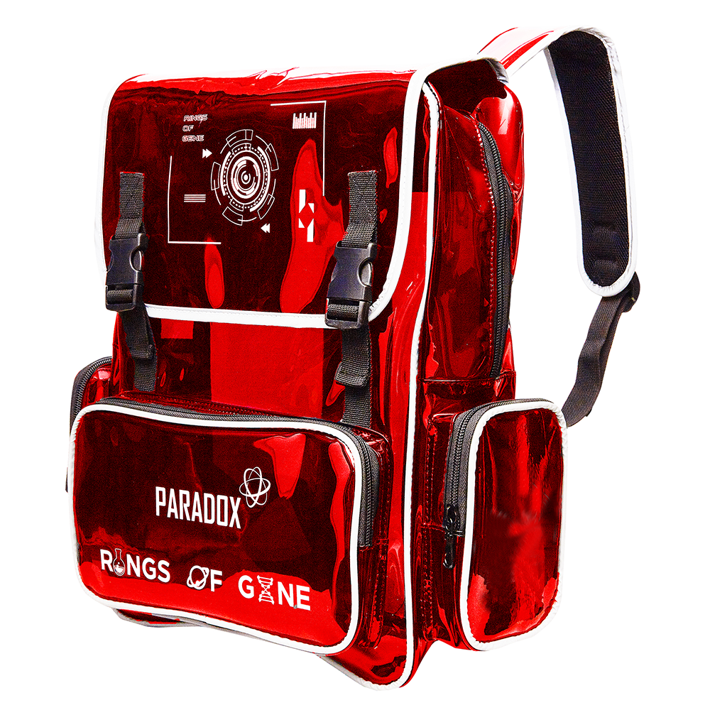 RED WHITE-WORDING BACKPACK