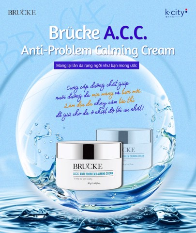 KEM DƯỠNG BRUCKE A.C.C ANTI-PROBLEM CALMING CREAM