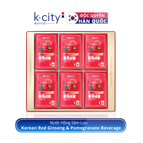Nước Hồng Sâm Lựu - Korean Red Ginseng & Pomegranate Beverage