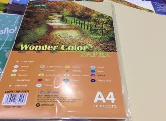 Bìa Ganh Wonder A4 10 Tờ LIGHT BROWN