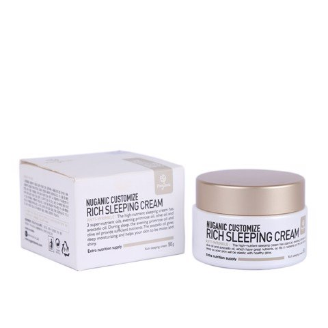 Kem dưỡng da Nuganic Customize Rich Sleeping Cream