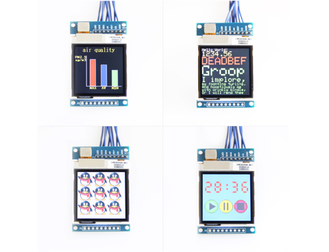 Arduino LCD  SPI 1.6 inch  TFT ( driver SSD1283A )