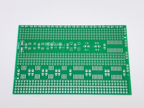 Fiberboard Single-sided multi-package SMD experiment board Hole board 7x11cm