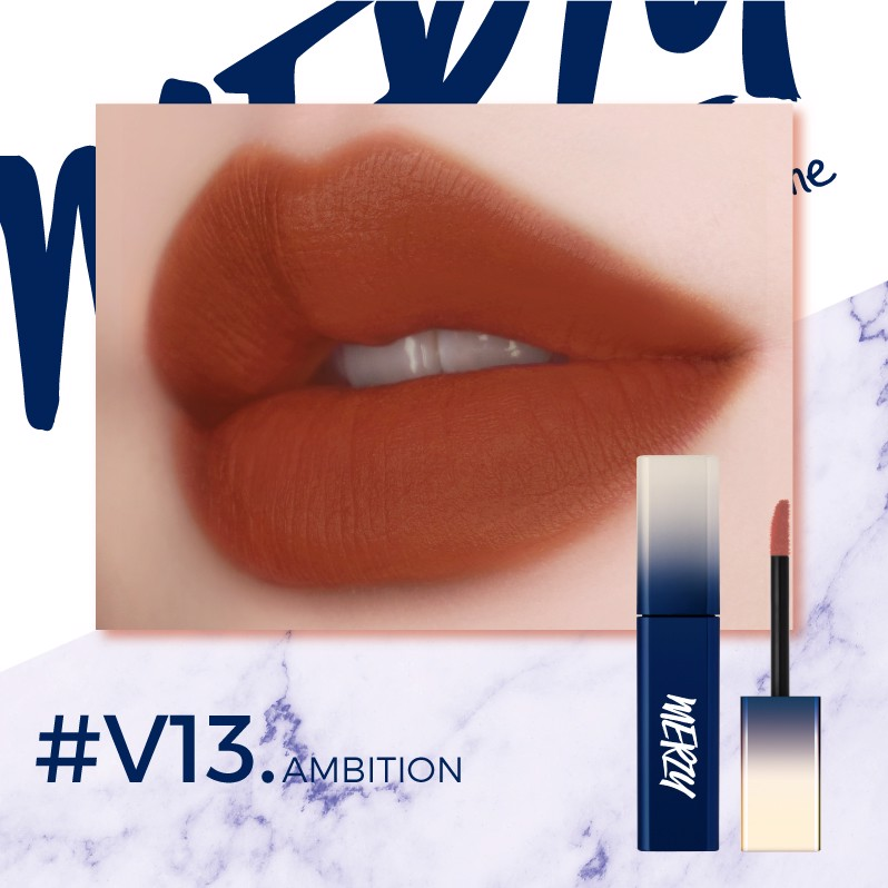 (New) (Ver Blue) Son kem lì Merzy The First Velvet Tint #V13