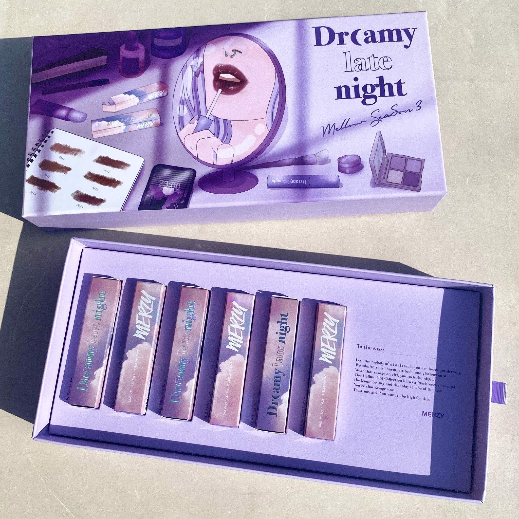 New) Set 6 Son Kem Lì Merzy Dreamy Late Night Mellow Tint – MERZY VIỆT NAM