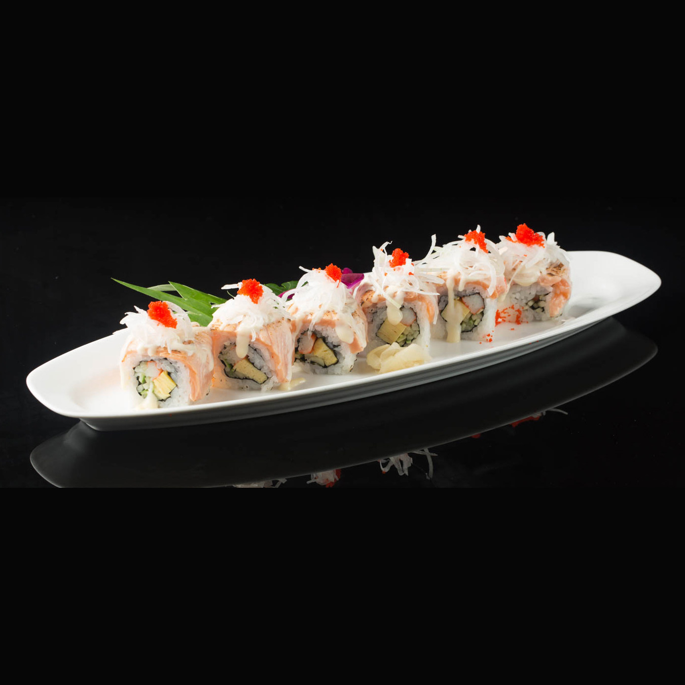Grilled Salmon Roll Dozo Sushi Dining