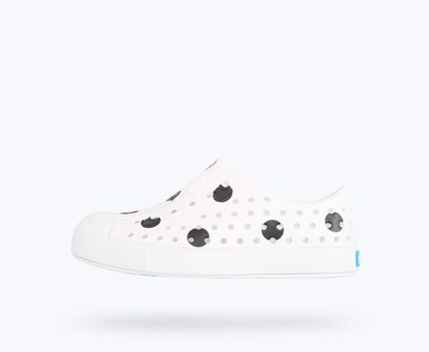 Giày Lười Trẻ Em NATIVE C Jefferson Print Child SHELL WHITE/ SHELL WHITE/ JIFFY POLKA DOTS