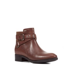 GIÀY BOOT NỮ GEOX D FELICITY NP ABX B SMO.LEA BROWN - AW18