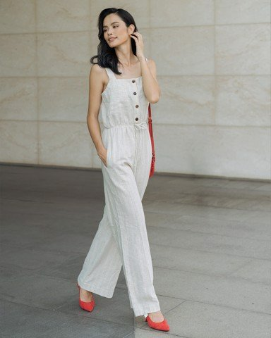 Jumpsuit Nữ F2 Linen Kem Secret
