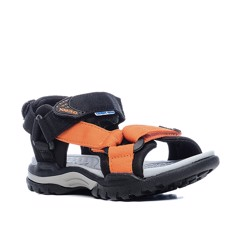 GIÀY TRẺ EM GEOX J BOREALIS B. F TEXT BLACK/ORANGE - SS17