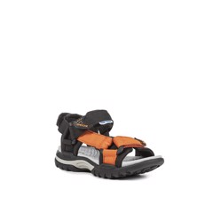 GEOX J BOREALIS B. F TEXT BLACK/ORANGE - SS17