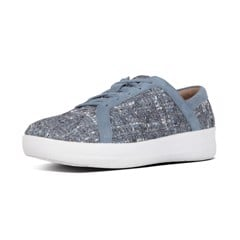 FITFLOP FFW F-SPORTY II LACE UP SNEAKERS - LUXE-TWEED (J99-534) DOVE BLUE - SS18