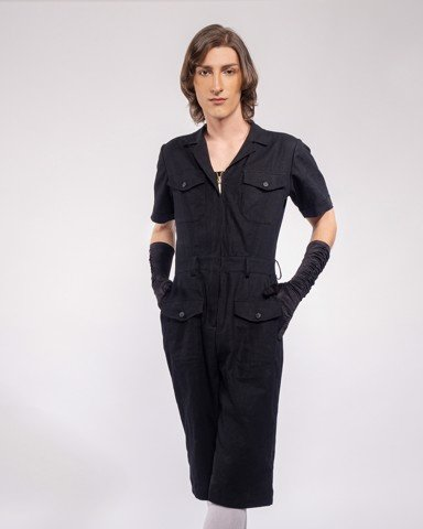 Jumpsuit WRIGHT FLYER - WOMEN - BLACK