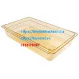 Amber High Heat Plastic Food Pan 1/1