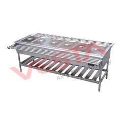 Food Warmer Cart with Six Divisions