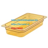 Amber High Heat Plastic Food Pan 1/3