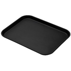 Black Non-Skid Serving Tray