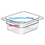 Transparent food pan 1/6
